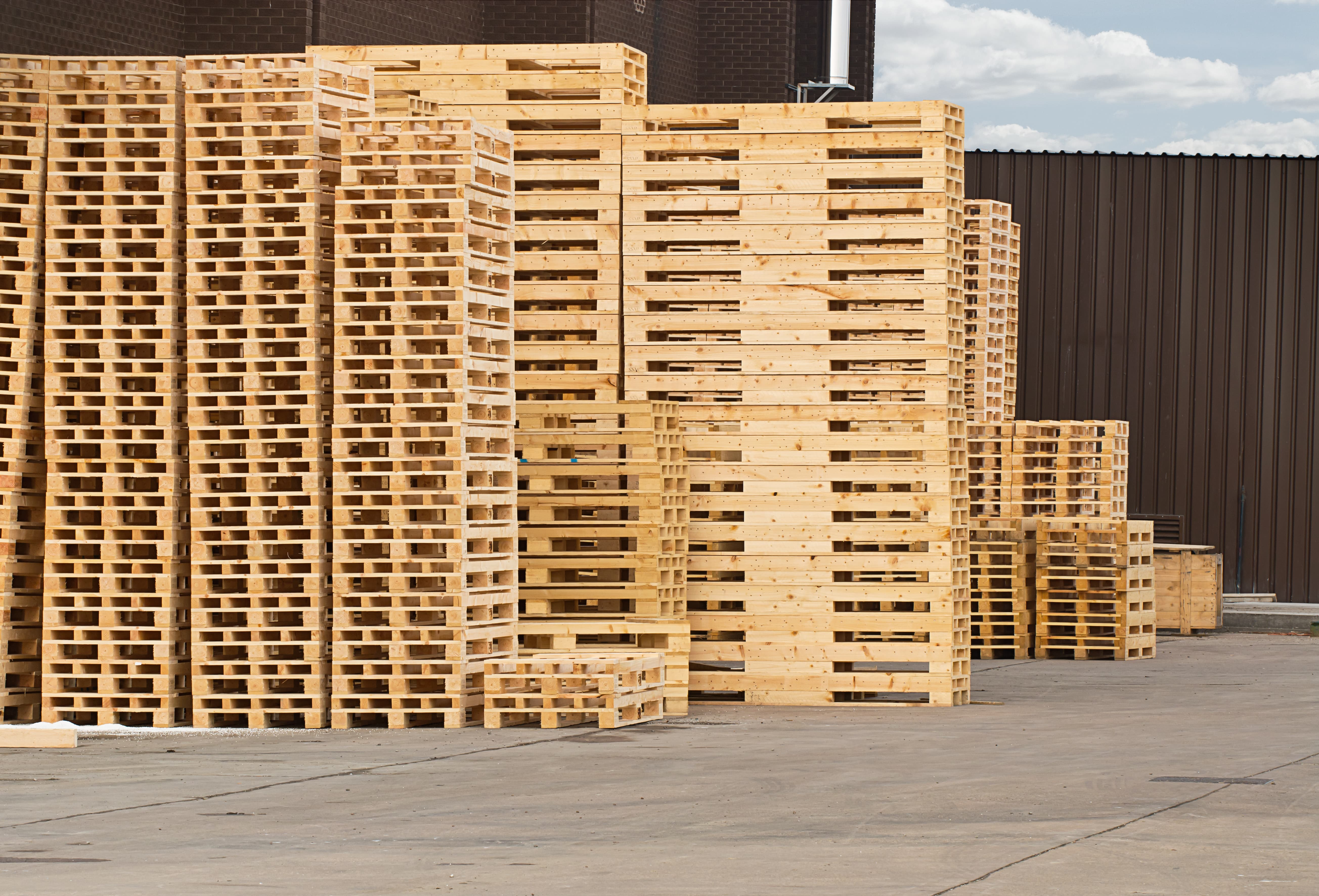 Production of pallets